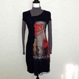 Kalisson Long Sleeve Mock Turtleneck Dress Size M